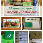 Montessori Monday – Montessori-Inspired Dinosaur Activities Using Dinosaur Replicas