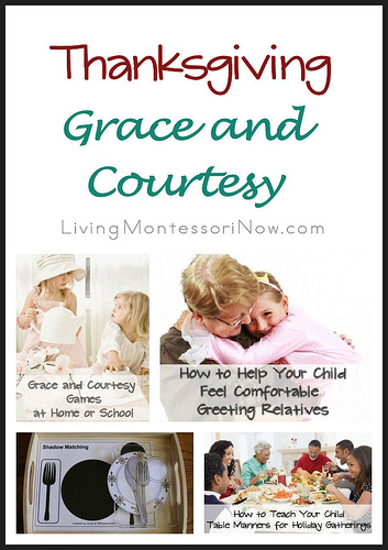 Montessori Monday – Thanksgiving Grace and Courtesy