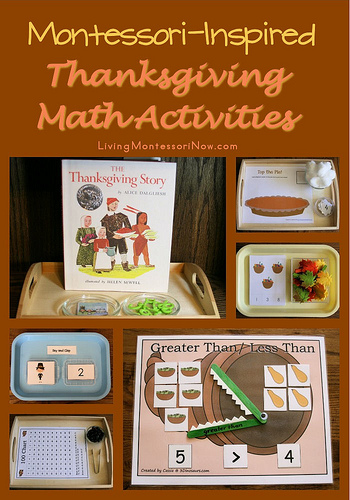 Montessori-Inspired Thanksgiving Math Activities