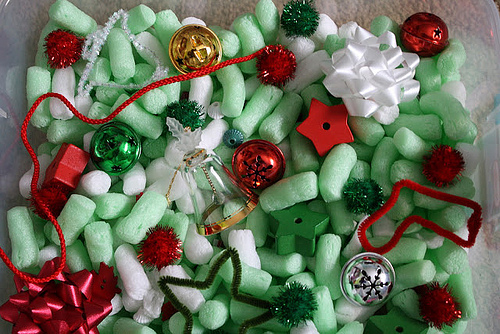 Christmas Sensory Bin (Photo from Olives and Pickles)