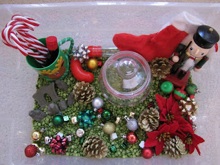 Christmas Sensory Bin (Photo from H is for Homeschooling)