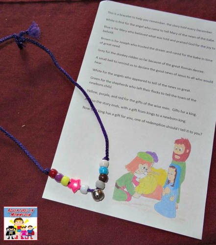Christmas Story Bracelet and Poem (Photo from Adventues in Mommydom)