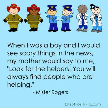 "Look for the Helpers"" Mister Rogers Word Art Freebie"