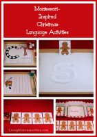 Montessori-Inspired Christmas Language Activities