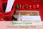 Montessori-Inspired Christmas Scavenger Hunt