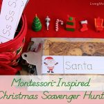 Montessori-Inspired Christmas Scavenger Hunt and Montessori Moms Holiday Hop