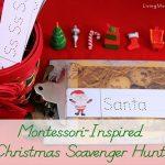 Montessori-Inspired Christmas Scavenger Hunt