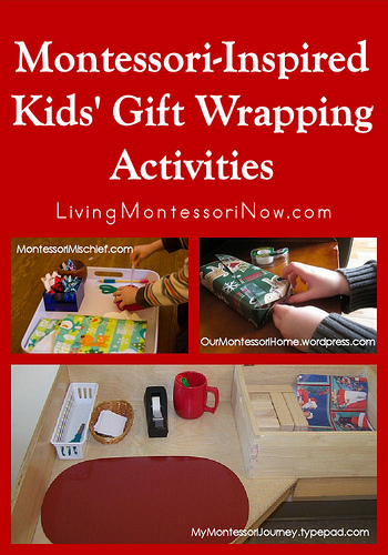 Montessori Monday – Montessori-Inspired Kids' Gift Wrapping Activities