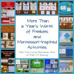 More Than a Year's Worth of Freebies and Montessori-Inspired Activities