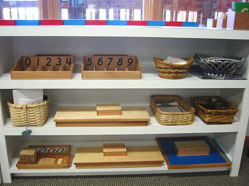 Montessori Math Materials (Photo from Raintree Montessori School)