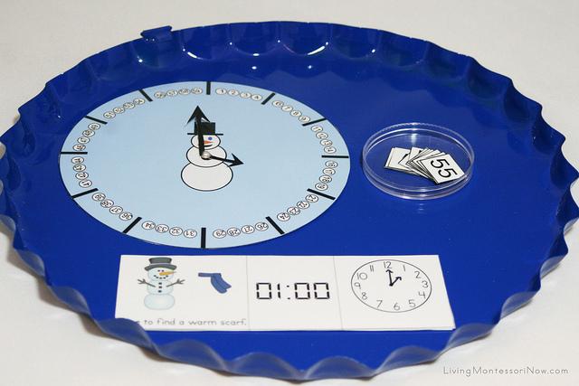 Snowman Clock Tray