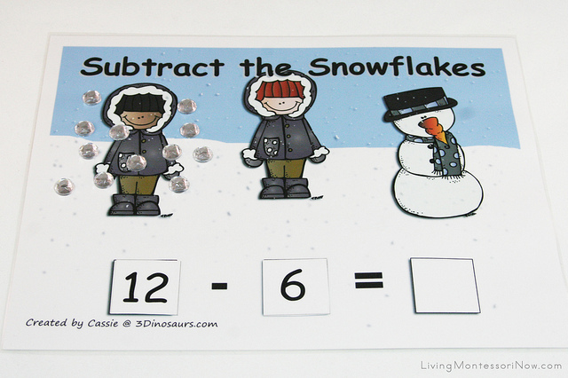 Subtract the Snowflakes Activity