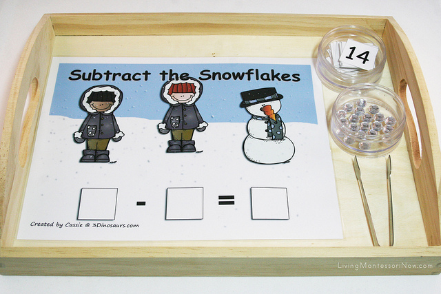 Subtract the Snowflakes Tray