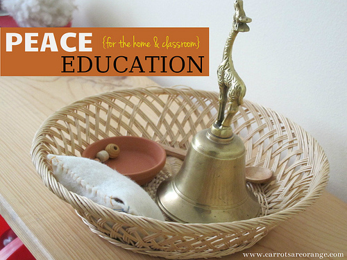 Peace Education Basket (Photo from Carrots Are Orange)
