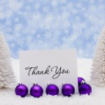 Thank You's for December 2012