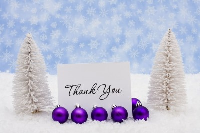 Thank You's for December 2012 (Stock Image by Karen Roach)