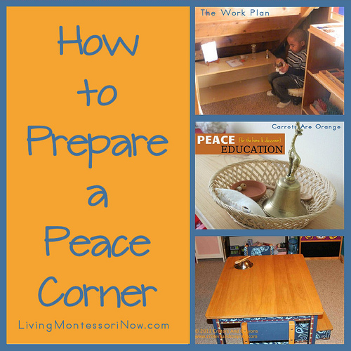 Montessori Monday – How to Prepare a Peace Corner