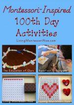 Montessori-Inspired 100th Day of School Activities