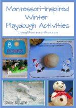 Montessori Monday – Montessori-Inspired Winter Playdough Activities