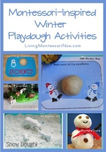 Montessori-Inspired Winter Playdough Activiites