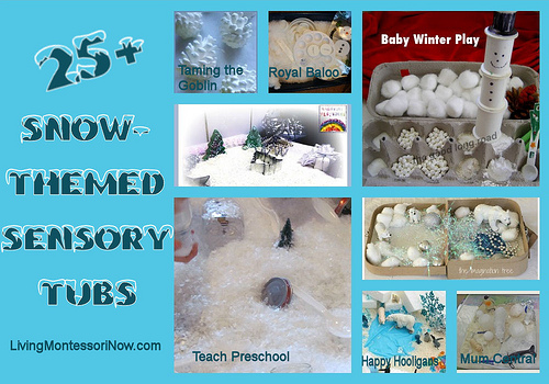 25+ Snow-Themed Sensory Tubs