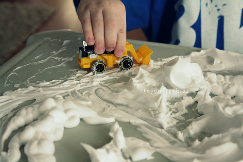 Shaving Cream Snow (Photo from Crayon Freckles)