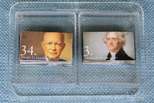 President Cards Matching Tray
