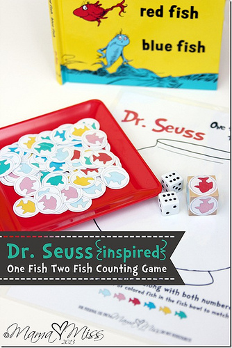 One Fish Two Fish Counting Game (Photo from Mama Miss)