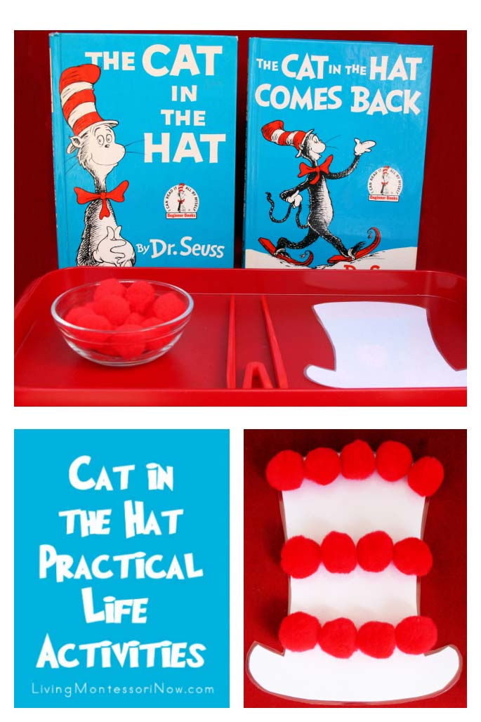 Montessori Monday – Cat in the Hat Practical Life Activities