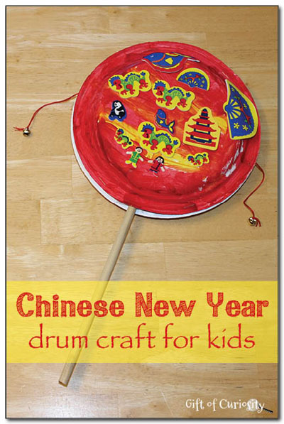 Chinese New Year Drum Craft (Photo from Gift of Curiosity)