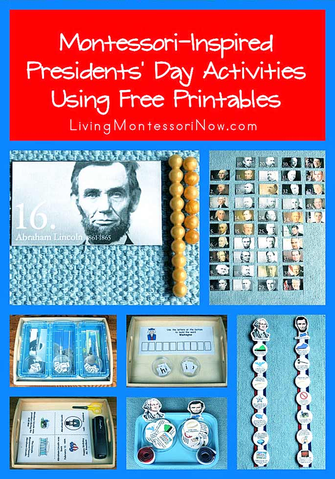 Montessori-Inspired President's Day Activities Using Free Printables