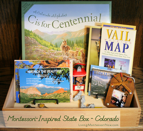 Montessori-Inspired State Box - Colorado