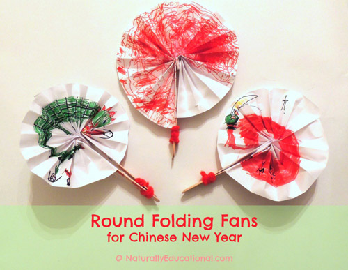 Round Folding Fans for Chinese New Year (Photo from Naturally Educational)