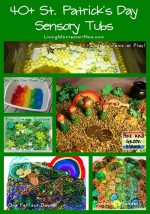 Montessori Monday – 40+ St. Patrick's Day Sensory Tubs