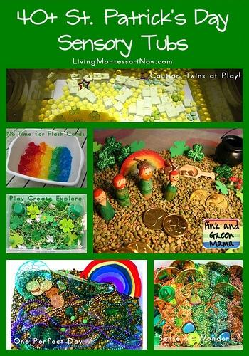 40+ St. Patrick's Day Sensory Tubs