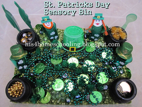 St. Patrick's Day Sensory Bin (Photo from H is for Homeschooling)