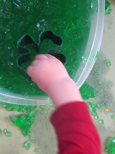 Jello Treasure Sensory Bin (Photo from Carrots Are Orange)