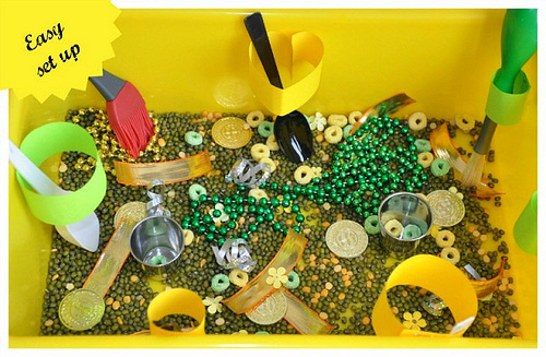 St. Patrick's Day Sensory Bin (Photo from Blog Me Mom)