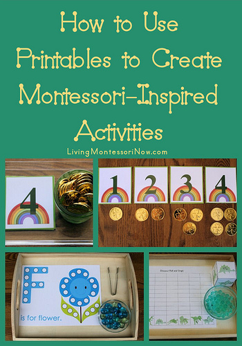 How to Use Free Printables to Create Montessori-Inspired Activities