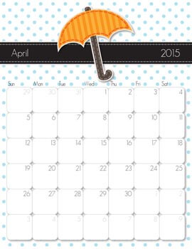 April Calendar from iMom