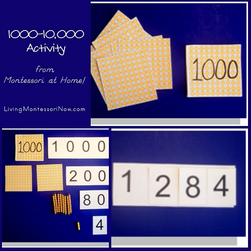 1000-10,000 Activity from Montessori at Home!