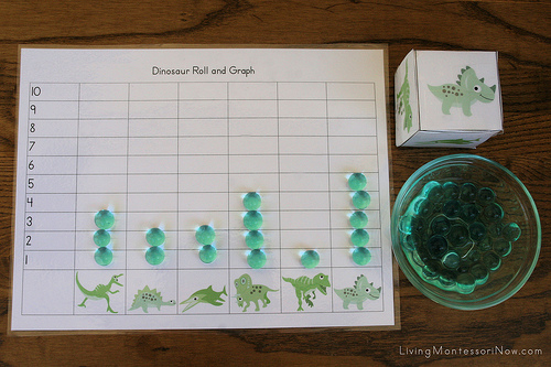 Dinosaur Roll and Graph Game