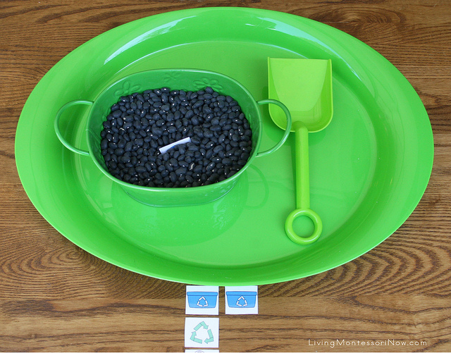 Earth Day Sensory Tub/Dig and Match-Up