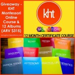 Giveaway – KHT Montessori Online Course and 12 Albums (ARV $315)!