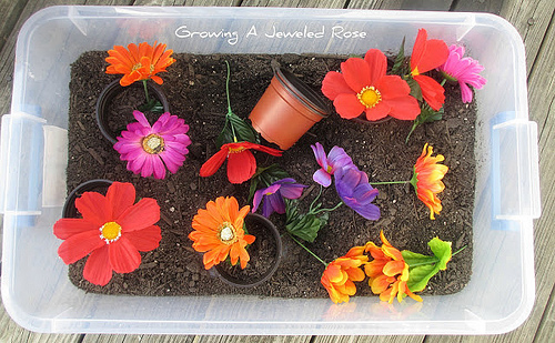 Gardening Sensory Bin (Photo from Growing a Jeweled Rose)