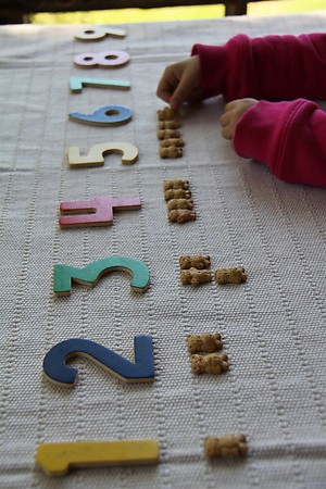 Teddy Grahams Numbers and Counters (Photo from Chasing Cheerios)