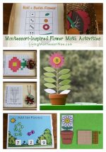 Free Flower Printables and Montessori-Inspired Flower Math Activities