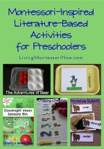 Montessori Monday – Montessori-Inspired Literature-Based Activities for Preschoolers