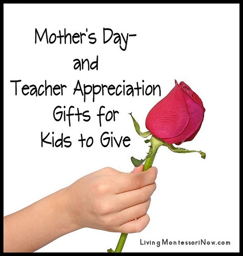 Mother's Day- and Teacher Appreciation Gifts for Kids to Give