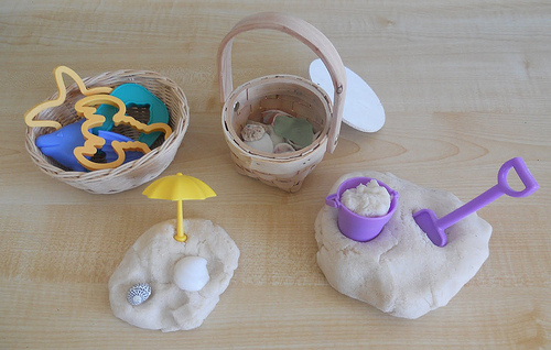 Sandy Playdough from Counting Coconuts